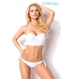 Stylischer Bikini weiß mit abnehmbaren Trägern