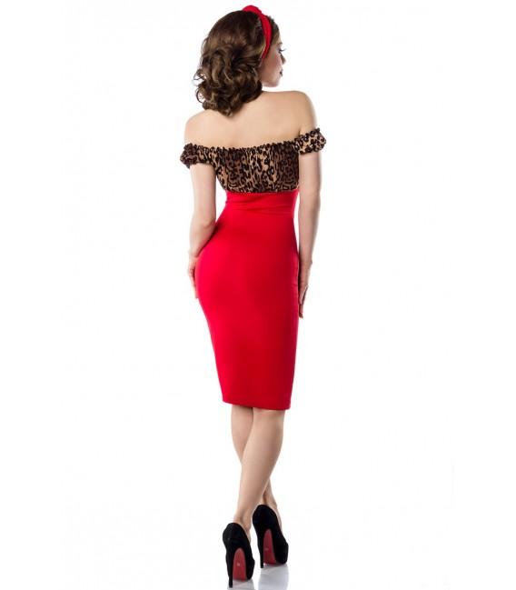 Vintage Pencil-Kleid von Belsira leo/rot
