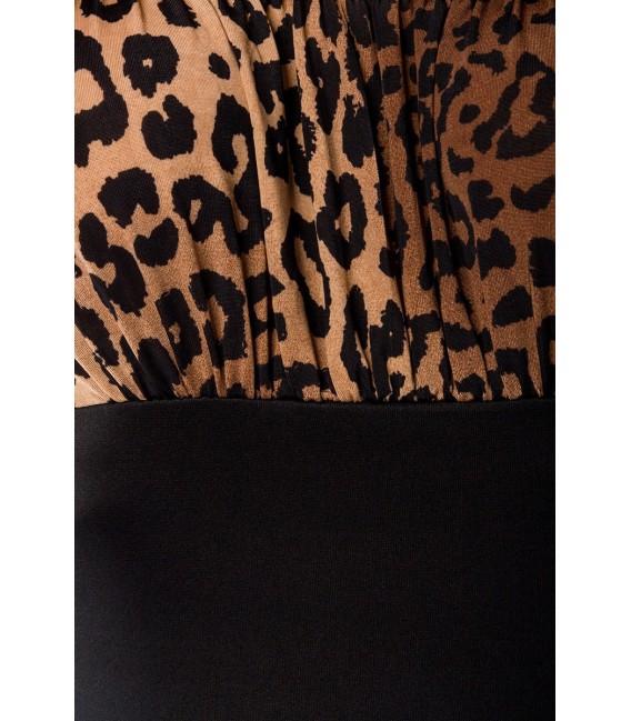 Vintage Pencil-Kleid von Belsira leo/schwarz