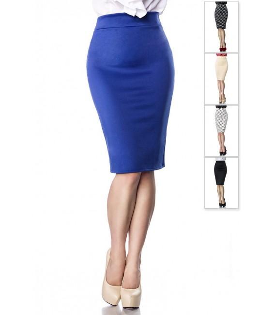 Schmaler eleganter Bleistiftrock von Belsira blau