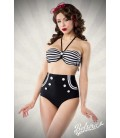 Vintage-Bikini schwarz/weiß - AT50018