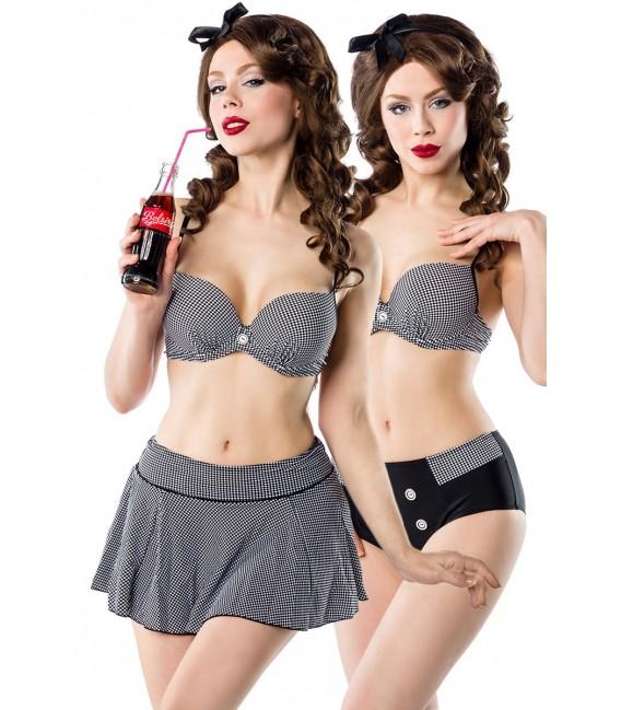 3-teiliges Vintage-Bikini-Set mit Rock von Belsira