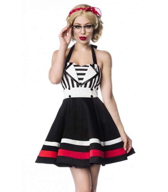 Neckholder-Kleid von Belsira schwarz/weiß