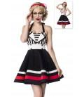 Neckholder-Kleid schwarz/weiß - AT50024