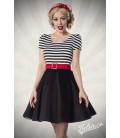 Jersey Kleid schwarz/weiß - AT50025