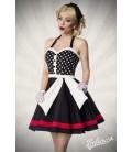 Neckholder Kleid schwarz/weiß/rot - AT50030