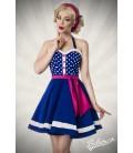Neckholder Kleid blau/rosa/weiß - AT50030