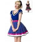 Kleid mit Gürtel blau/rosa/weiß - AT50031