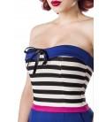 Body mit Rüschenbesatz blau/rosa/weiß - AT50032