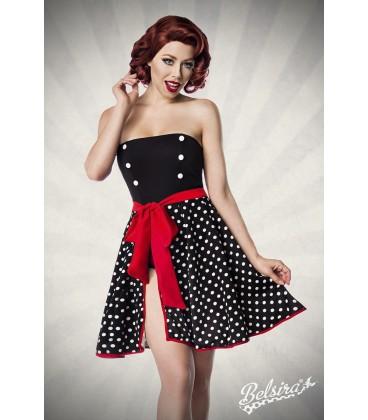 Wickelrock schwarz/weiß/rot - AT50035