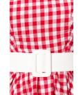 Karokleid rot/weiß - AT50049