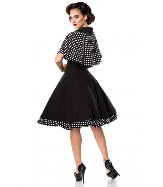 Ärmelloses Swing-Kleid mit Cape von Belsira mit Tellerrock