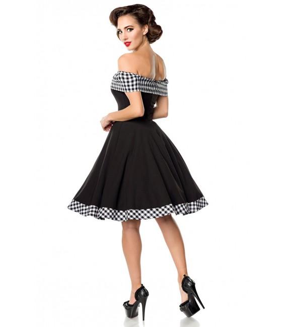 Schulterfreies Swing-Kleid von Belsira mit Tellerock
