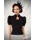 Jersey-Bluse schwarz - AT50056