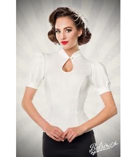 Jersey-Bluse weiß - AT50056