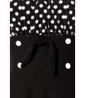 schulterfreies Swing-Kleid schwarz/weiß - AT50058
