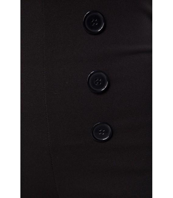 Caprihose mit High Waist Schnitt von Belsira schwarz
