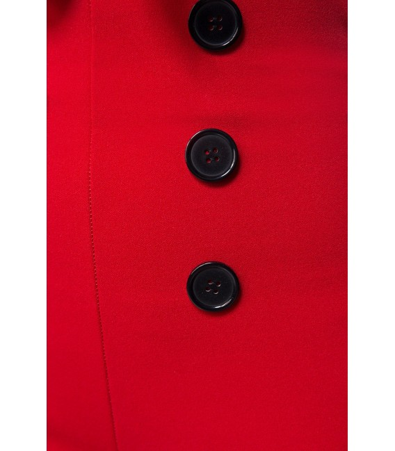 Caprihose mit High Waist Schnitt von Belsira rot