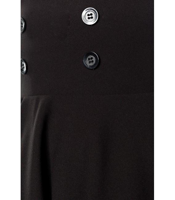 Kurzer Swing-Rock von Belsira in High Waist Optik mit extra breitem Bund schwarz
