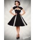 Vintage-Kleid mit Bolero schwarz/weiß - AT50062
