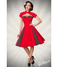 Vintage-Kleid mit Bolero rot/schwarz/weiß - AT50062