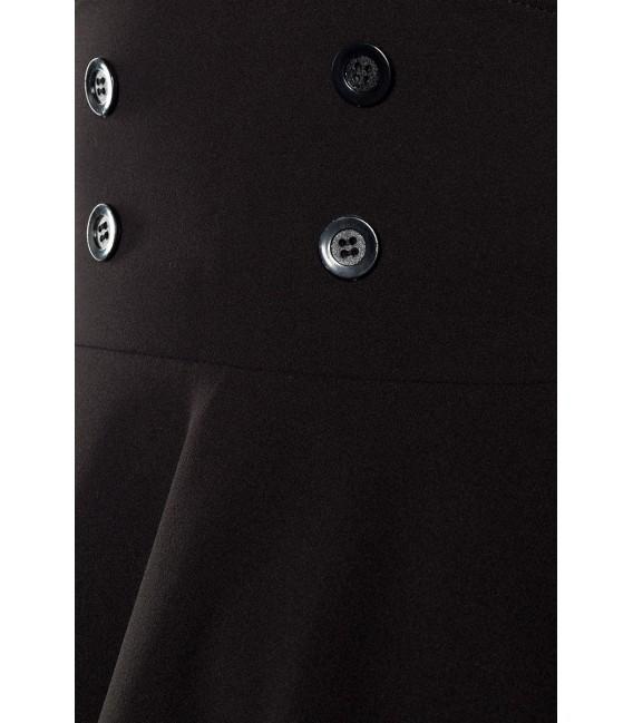 Retrorock - Knieumspielender Tellerrock in High Waist Optik mit extra breitem Bund von Belsira schwarz