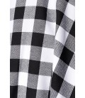 Retrorock - Knieumspielender Tellerrock mit angesetztem Bund von Belsira schwarz/weiß