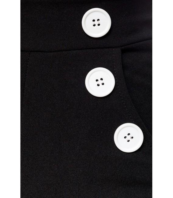 Marlenehose mit hohem Bund von Belsira schwarz/weiß