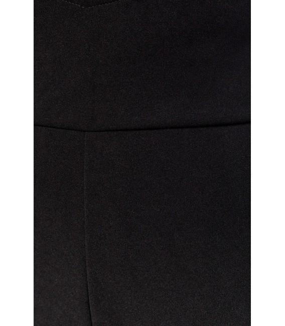 Marlenehose mit hohem Bund und herzförmigen Bundabschluss von Belsira schwarz