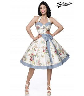 Vintage Swing Kleid blau/rosa/weiß - AT50089