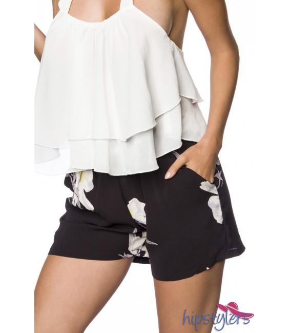 Schlupf-Shorts mit Bundfalten blumenmuster