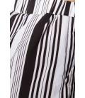 Schlupf-Shorts mit Bundfalten gestreift