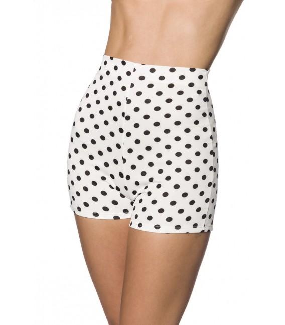High Waist Shorts weiß/schwarz