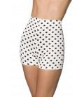 High Waist Shorts weiß/schwarz - AT60004