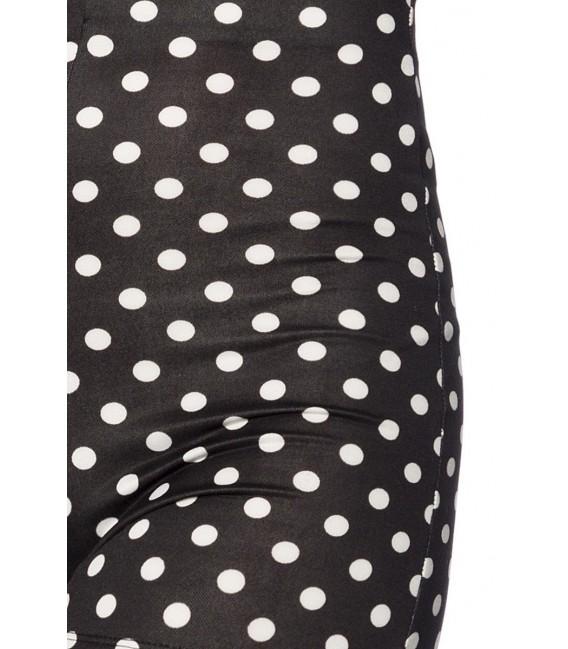 High Waist Shorts schwarz/weiß