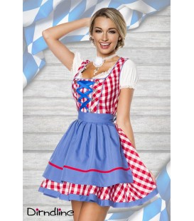 Traditionelles Minidirndl rot - AT70003