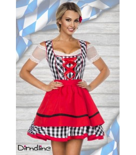 Traditionelles Minidirndl schwarz - AT70003