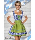 Traditionelles Minidirndl blau - AT70003