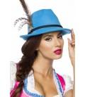 Traditioneller Trachtenhut blau - AT70007