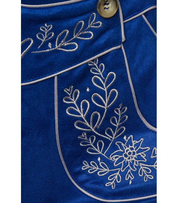 Traditionelle Trachtenshorts von Dirndline, mit detailreichen, kontrastierenden Stickereien und Eingriffstaschen im Vorderteil b