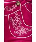 Trachtenshorts mit Stickereien pink - AT70026