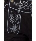 Traditionelle Trachtenkniebundhose von Dirndline mit abnehmbaren Trägern schwarz