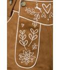 Trachtenhose mit Stickereien braun - AT70027