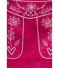 Trachtenmini mit Stickereien pink - AT70028