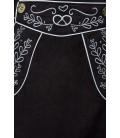 Trachtenrock mit Stickereien schwarz - AT70029