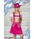 Trachtenrock mit Stickereien pink - AT70029