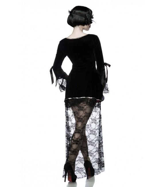 Gothic Vampire Kostüm Komplettset aus Samt und Spitze mit Pailletten