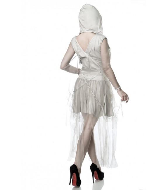 Gruseliges Skeleton Ghost Kostüm Komplettset von Mask Paradise