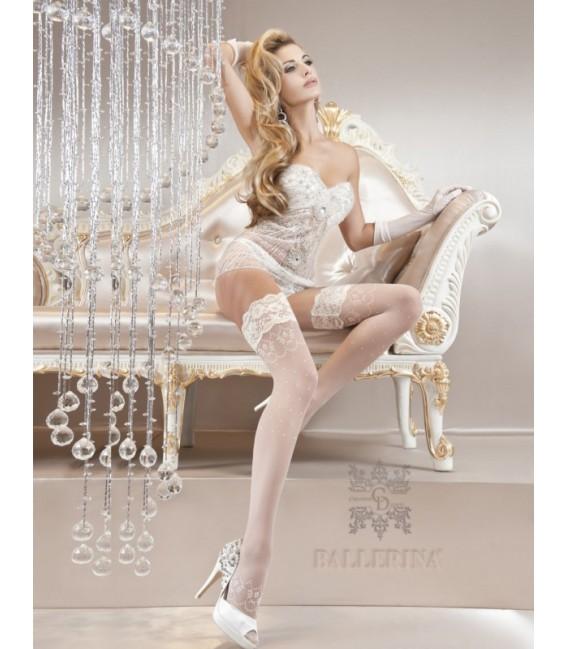 Stockings BA Art. 122 weiß halterlose Strümpfe 20den Großbild