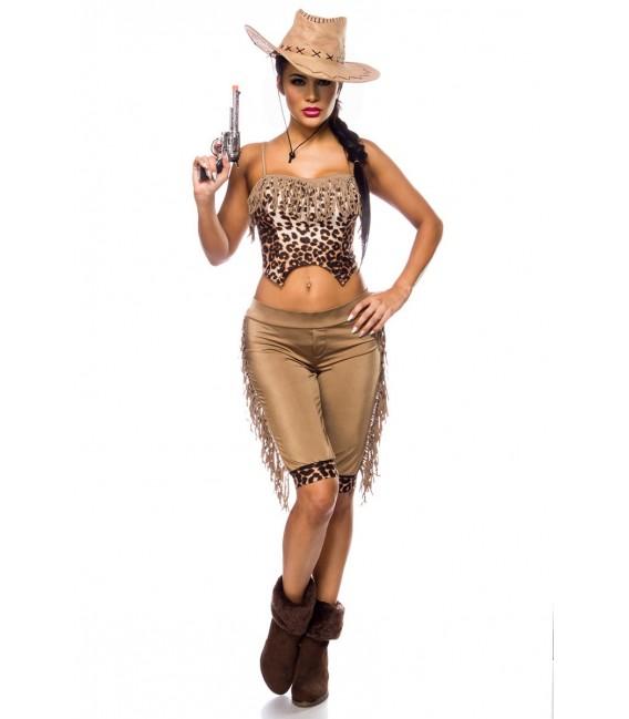 Westernkostüm Cowgirl Kostümset von Mask Paradise - 2 Großbild